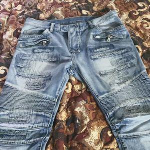 Balmain blue jeans sku# S4h1500b406v